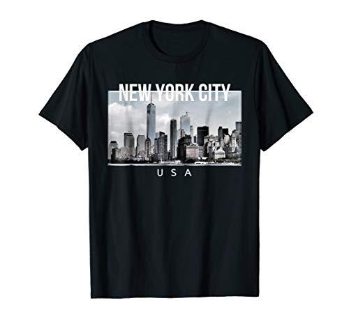 (New York City Manhattan Skyline - Tee for Big Apple Lovers)