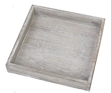 3x Tablett Für Deko Gesteck Adventskranz Holztablett Holz Vintage Shabby  Chic Grau Krenz