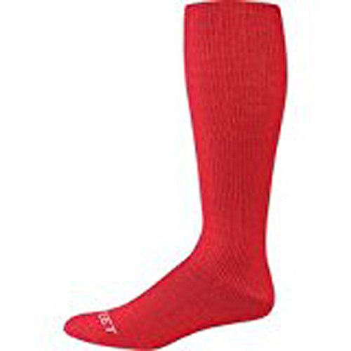 (Pro Feet 274 Acrylic Multi-Sport Cushioned Tube Socks Scarlet 10-13)
