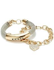 GUESS Factory Women's Gold-Tone Mesh ID Bracelet, NS