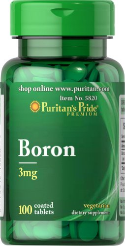 Puritan's Pride Boron 3mg (100 Tabletten)