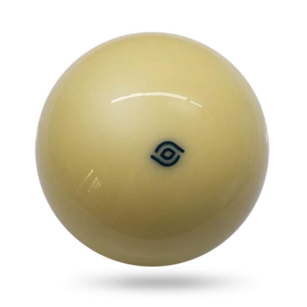 Festnight 1 PCS White Cue Ball 57.2 MM Bola de Billar 6 Punto Rojo Pool Cue Pelota de Entrenamiento