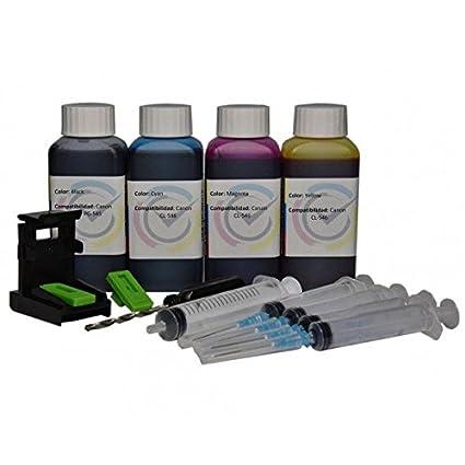 Кit carga cartuchos de tinta Canon PG-545 CL-546 color negro y 400 ...