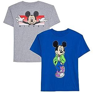 Disney Boys' Big 2 Pack of Mickey Graphic T-Shirts