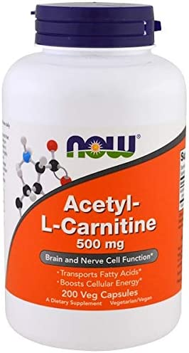 NOW Foods Acetyl L-Carnitine 500mg – 200 ct Pack of 2