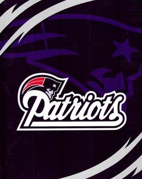 Northwest NFL Football Licensed New England Patriots Queen Size Royal Plush Blanket (England Patriots Fleece New Blanket)