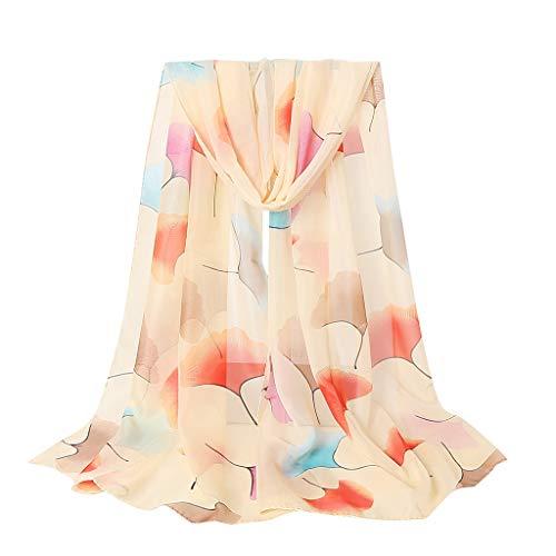 HYIRI Face Mask Fashion Women Long Soft Wrap Scarf Shawl Chiffon Flower Print Scarf Scarves