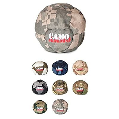 Camo Ammo Footbag Hacky Sack. 14 Panel Steel Pellet/Ground Rubber Filled Footbag, Assorted Colors: Sports & Outdoors