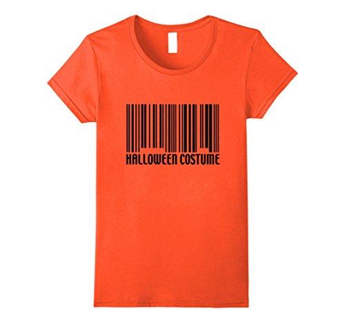 Womens Funny Generic Halloween Costume Barcode T-Shirt XL (Nerd Halloween Costumes Diy)