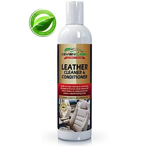 KevianClean Leather Cleaner and Conditioner 16 oz. (3 Pack) - Best for Real, Genuine, Vegan, PU & Faux Car Leather - Ideal Treatment for Furniture, Sofa, Couch, Jacket, Handbag, Motorcycle & More