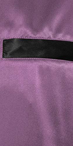 Semplice Due Leggero Bagno Lunghe Pigiama Estate Da Pigiameria Stile Notte Confortevole Homewear Camicia Primavera Violett Maniche Uomo Set A Pezzi 5ggS8q6