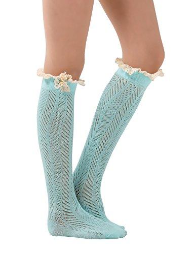 Crochet Socks Cotton Warmers Button