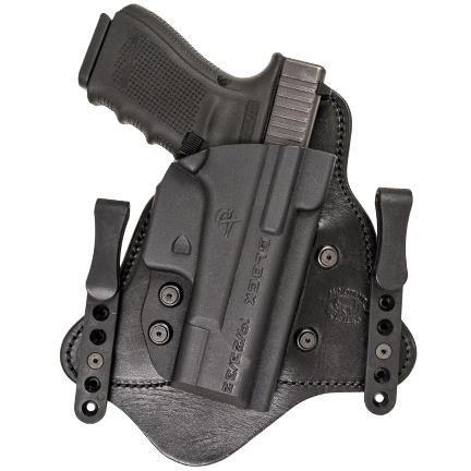 (Comp-Tac MTAC IWB Hybrid Holster,Glock 9/40/357 Slide,Standard Clips,Black,Right Side Carry)