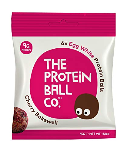 The Protein Ball Co. Kirsche und Mandel Proteinbälle, 10er Pack (10 x 45 g)