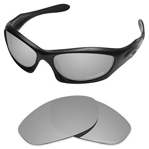 Tintart Performance Replacement Lenses for Oakley Monster Dog Sunglass Polarized Etched-Silver (Monster Sunglasses)