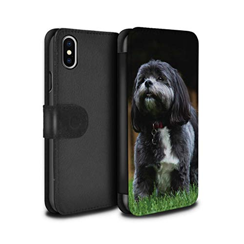 eSwish PU Leather Wallet Flip Case/Cover for Apple iPhone Xs Max/Shih Tzu Design/Popular Dog/Canine Breeds Collection