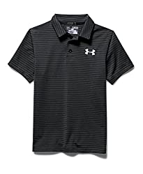 Under Armour Boys' Composite Stripe Polo, Asphalt Heather (005), Youth X-Small
