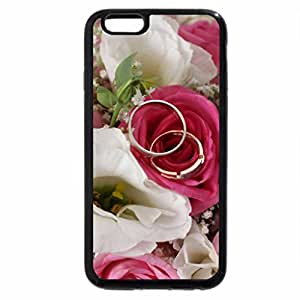 iPhone 6S / iPhone 6 Case (Black) Weding flowers...ring