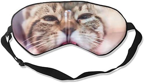 Gato Cara Dormir Ojos máscaras - Cómoda máscara de Dormir Cubierta de Ojos para Viajar Noche Noon Nap Mediation Yoga: Amazon.es: Hogar
