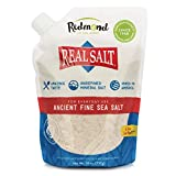 REDMOND Real Sea Salt - Natural Unrefined Organic Gluten Free Fine, 26 ounce pouch (1 Pack)