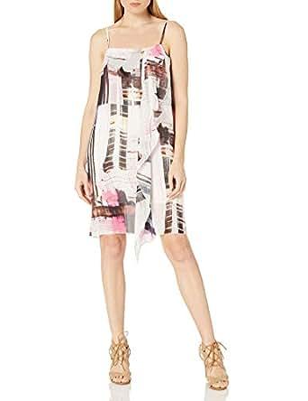 French Connection Womens 71HBM Cornell Sheer Dress Sleeveless Dress - Brown - 0