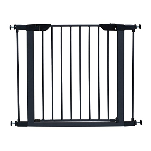 MidWest Homes for Pets Steel Pet Gate | Pet Safety Gate; 29″ & 39″ Tall in Soft White or Textured Graphite