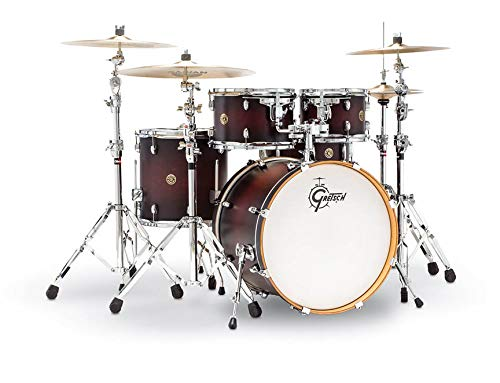 Gretsch Drums Catalina Maple CM1-E824SSDCB 4-Piece Drum Shell Pack, Satin Deep Cherry -