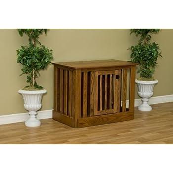 This Item Amish Wood Dog Crate Entertainment Center   Best U0026 Designer  Wooden Dog Crate Entertainment Center Size: Large