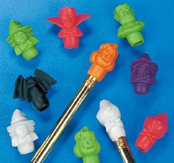 Fun Express Halloween Pencil Top Erasers Party Favors - 12 (Old School Disney Costumes)