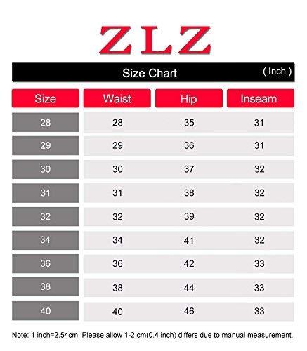 ZLZ Slim Fit Jeans, Men's Younger-Looking Fashionable Colorful Super Comfy Stretch Skinny Fit Denim Jeans (32, Black)