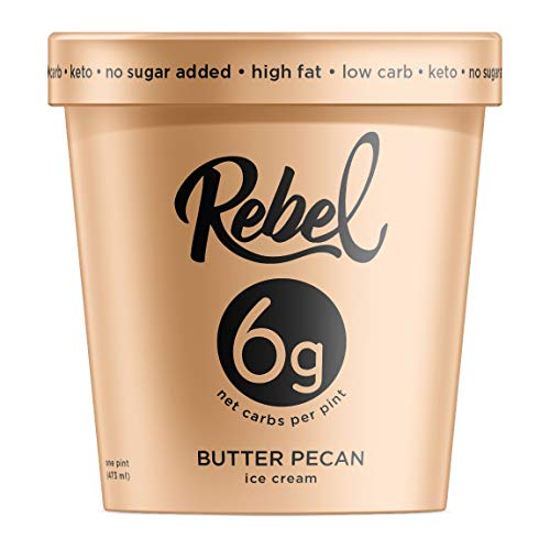 Rebel Ice Cream - Low Carb, Keto - Butter Pecan (8 -