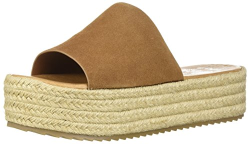 - Coolway Women's BORY Espadrille Wedge Sandal, Leather, tan, 40 Medium EU (9-9.5 US)