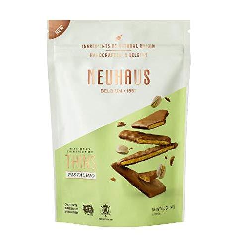 Neuhaus Belgian Chocolate Nougathins - Milk Chocolate and Pistachio 2 Pack by Neuhaus