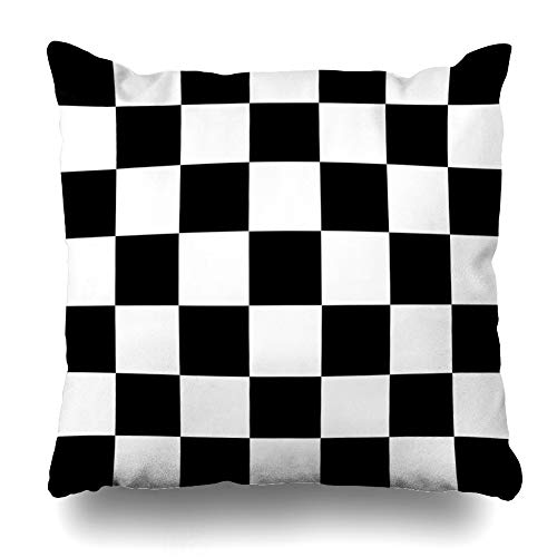 Kutita Decorative Pillow Covers 18 x 18 inch Throw Pillow Covers, Simple Black and White Checkered Abtract Background Pattern Double-Sided Decorative Home Decor Pillowcase -