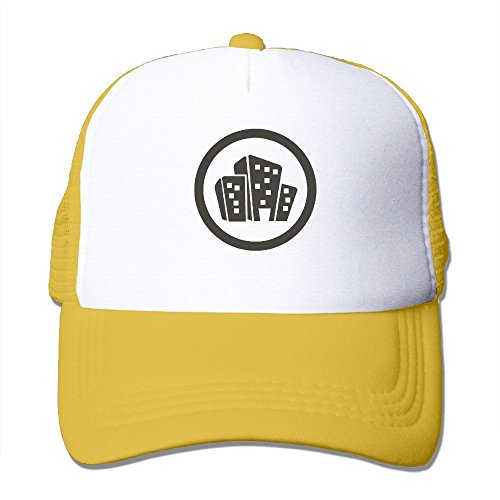 Yellow Foam Construction Hat (NONGFU Construction, Company, Clip Art, Sticker Big Foam Mesh Hat Mesh Back Adjustable Cap)