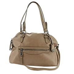 Get your weekday organized with the sleek Jessica Simpson™ Talia Satchel. Faux-leather construction. Zipper closure. Dual flat handles with key-chain detail and removable cross-body strap. Exterior features zipper pockets with brand logo det...