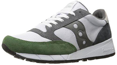Saucony Originals Herren Jazz 91 Sneaker Blanco / Verde / Carbón