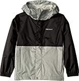 Marmot Kids Boy's PreCip¿ Eco Jacket (Little Kids/Big Kids) Black/Grey Storm Large
