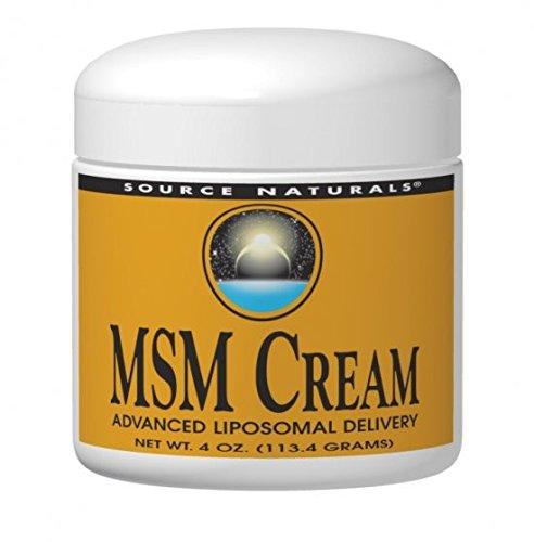 Source Naturals MSM (Methylsulfonylmethane) Cream Advanced Liposomal Delivery - 4 oz