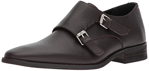Calvin Klein Men's Robbie Tumbled Leather Monk-Strap Loafer