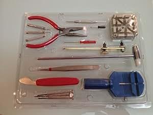 Yesurprise Kit de reparación de relojes de 16 piezas & herramienta de ajuste de correa de muñeca abridor y cerrador de tapas