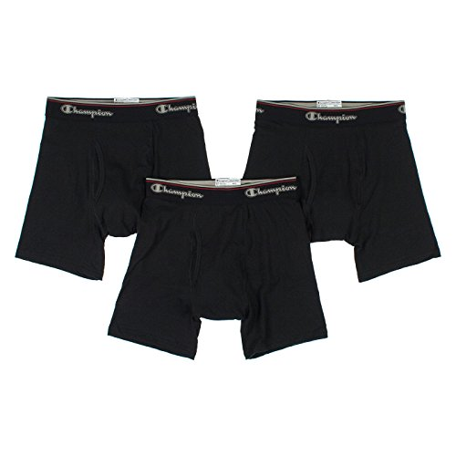 Champion Men's 3-Pack Smart Temp Boxer Brief, Black, LARGE (Champion Active Boxer Briefs compare prices)