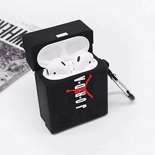 BlossomingLove Compatible with AirPods Case Keychain Full Protective Premium PVC Soft Rubber Silicone Cover Fashion Dope Self-Design AJ Box Skin for AirPods Charging Case AJ Box