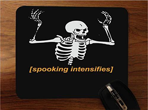 Spooking Intensifies Skeleton Desktop Office Silicone Mouse Pad by egeek amz]()
