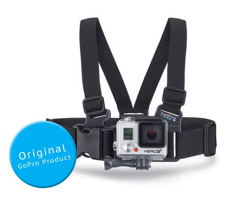 - GoPro Original ACHMJ-301 3-8 Year Olds Kid's Junior Chesty Adjustable Chest Mount Harness with Vertical Quick Release Buckle and Thumb Screw for GoPro Hero 1, Hero 2, Hero 3, Hero 3+, Hero 3 Plus, Hero 4 Camera - Black