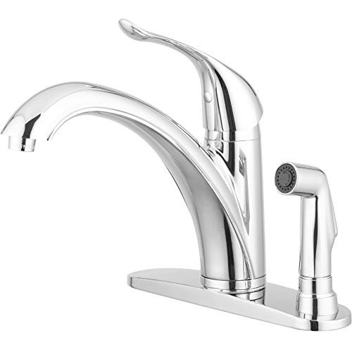 - Pacific Bay Medina Kitchen Faucet with Side Sprayer (Chrome)