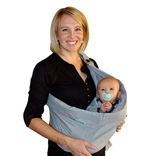 Baby Wrap Carrier Ring Sling: Extra Comfortable Slings and Wraps for Easy Wearing and Carrying of Babies, Newborn, Infant and Toddler. Carriers Ideal for Baby Registry, Breastfeeding and Nursing (Best Wrap For Breastfeeding)