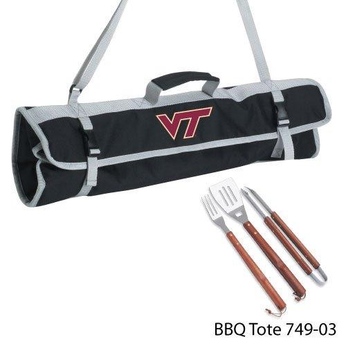 NCAA Virginia Tech Hokies 3-Piece BBQ Tool Set With Tote -