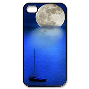 Moon ZLB599976 Custom Phone Case for Iphone 4,4S, Iphone 4,4S Case