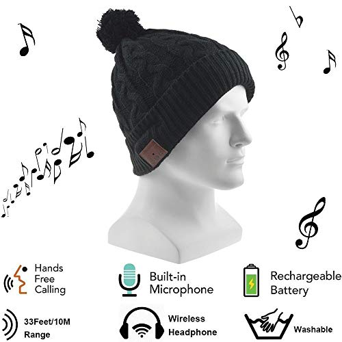 Bluetooth Hat,SUMDY Bluetooth Cap,Wireless Beanie Headset Musical Knit Headphone Speaker Hat Speakerphone Cap